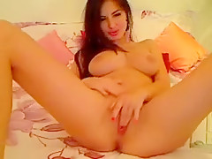 Amazing Teen Body Masturbation Sexy Brunette