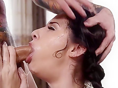 Cassidy Kleins Gets Throated Really Hard