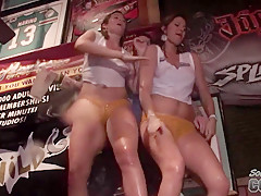 Extra Long and Hot Wet T-Shirt Contest with Lots of Pussy - SouthBeachCoeds