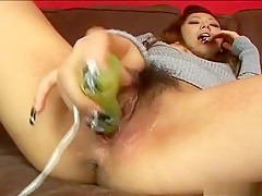 Wildest Asian masturbation with huge creampie after blowjob