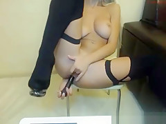 Nasty Curvy Ass Anal Penetration With Dildo