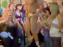 Public doggy style fuck with male stipper