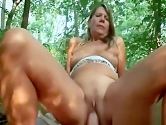 Mature Blonde Samantha Sucks Dick And Gets Fucked Outside