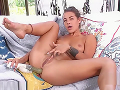 Bubby Evelin Stone plays with her toy