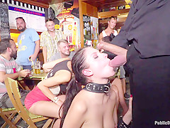 19 Year Old Rebecca Volpetti Humiliated With Public Sex And Punishment - PublicDisgrace