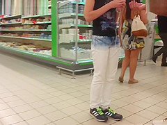 A Brunette At The Store