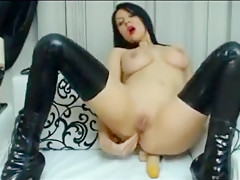 Angel Noble Red Latex Anal Dildo