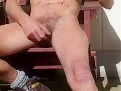 Steve Patrick wanking outdoor and cums