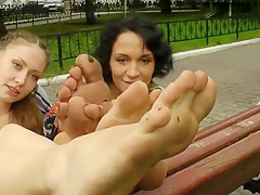 Two barefoot beauties