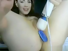 Pretty Cam Girl With Toys