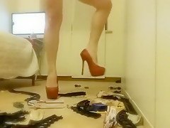 Blonde Goddess Crush and Piss on Toy Train