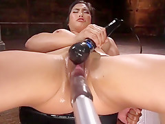 Asian Mega Babe is Fucked into Oblivion.