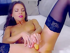 Hot Mature Girl in stockings Playing With Dildo (TouchMyGi)