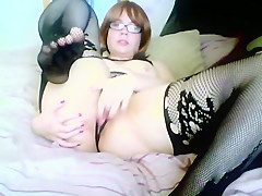 Sexy horny school girl fingers her pussy and ass