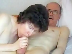 Swallowing Grandpa's Big Cock