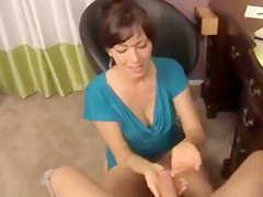 mom helps son and make him fuck her