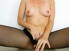 Pantyhose Masturbation - Loud Sexy Moans During Intense Orgasm