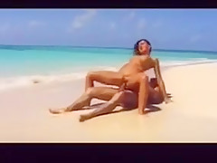hot brunette beach sex