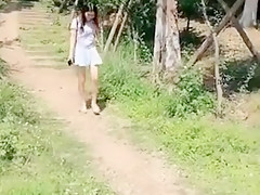 Asian college girl sex in the park