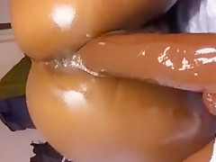 Ebony first Anal with bbc dildo SiNncerest Tight Ass