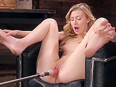 Small Tittied Blonde Fucking Machine
