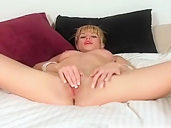 Angie Savage Fingers Her Meaty Pussy