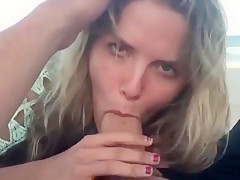 Hot girl blows cock at the beach