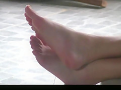 Candid feet at home