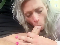 Sexy wheelchairslut Car blowjob outside Probation Service