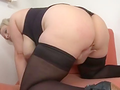 Dazzling busty bitch performing in incredible masturantion