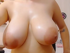 Stare at her huge boobs, ass and pussy