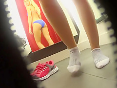 hot blonde changing room