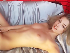 Horny Blonde Teen Masturbates On Live Webcam