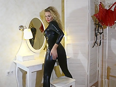 Fetish Lady - Latex Mona in sexy catsuit and high heells