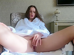 Beautiful Russian girl masturbates - 1 part - CatherineLiveStyle