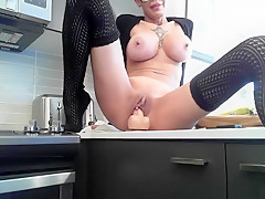 Hottest Shaved Busty Plays For You