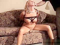 Breasty Gal Gets Horny While Being Bounded Tight