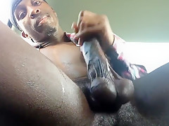 Sweat dripping as my black duck bust a big load for you