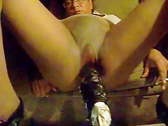 wet anal session on pantyhose