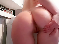 Perfect round ass on petite girl