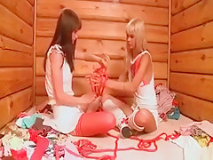 Two Hot Nasty Horny Blonde Teen Babes