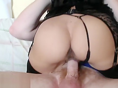 Hard Fuck And Suck in Black Lingerie