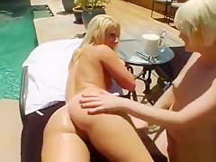 Nasty Lesbos Fill Up Their Big Fannys With Milk And Squirt I