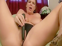 Carrie Moon plays with black vibrator 2008