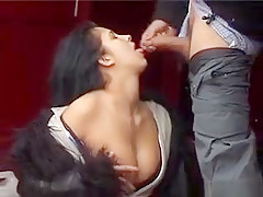 Crazy Whore Sucks Cock On The Road