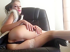 Sexy girl and her dildo