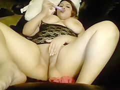 Big Boobs Mature Shoving Dildo Up Her Pussy