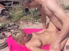 Hard outdoor sex