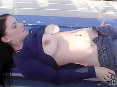 Maye First Shoot Ever Naked in Public Around Cedar Rapids Iowa - NebraskaCoeds