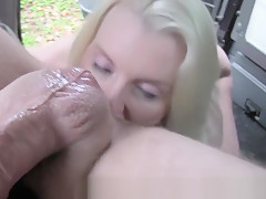 Blonde Amateur Anal Fucked In Fake Cab